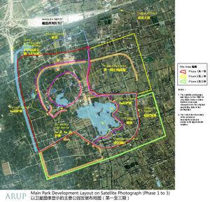 上海迪士尼乐园度假区规划图 1 3期工程 高清图片